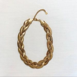 Vintage 3 strand snake gold necklace.Very trendy!